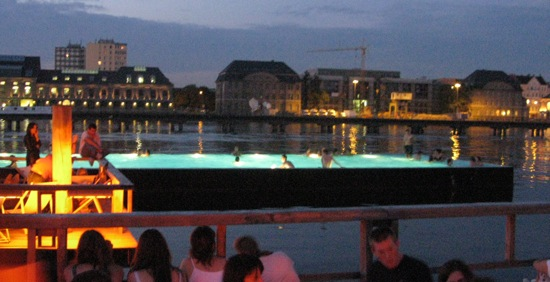 Pool by Night in the Spree River