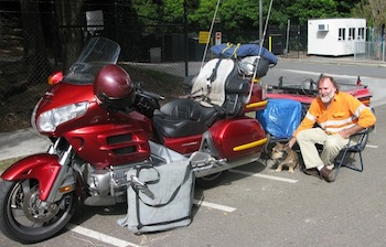 Goldwing and trailer camp