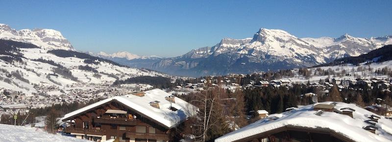Megève Village from above. Haute-Savoie, Rhône-Alpes