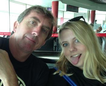 Ian & Sabina waiting for the plane.